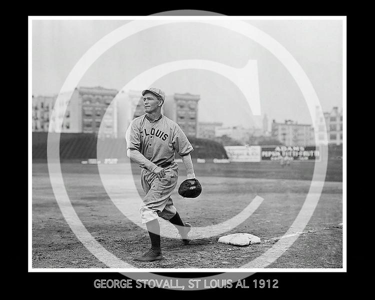 George Stovall, St. Louis Browns AL,  1912.