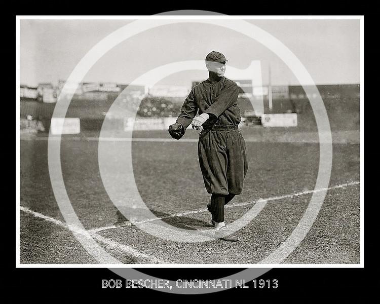 """Robert Henry """"Bob"""" Bescher, Cincinnati Reds NL, 1913."""