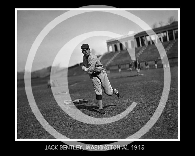 Jack Bentley, Washington Senators AL, at the University of Virginia, Charlottesville, 1915.