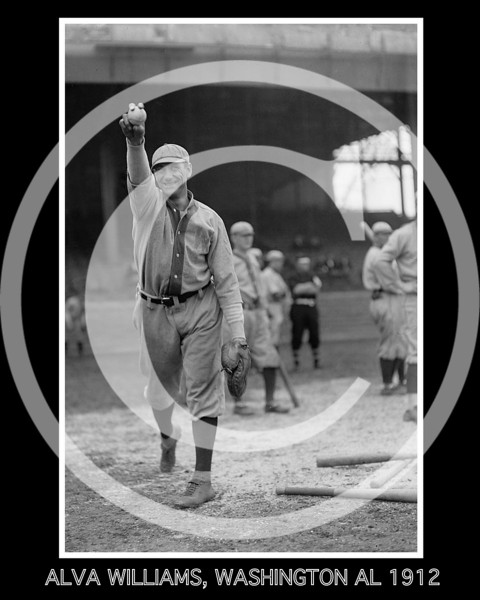Alva Rip Williams, Washington Senators AL, 1912.