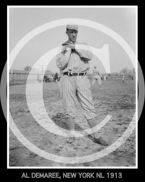 Al Demaree, New York NL, at spring training in Marlin Springs, Texas 1913