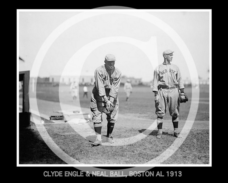 Clyde Engle and Neal Ball, Boston Red Sox AL, 1913.
