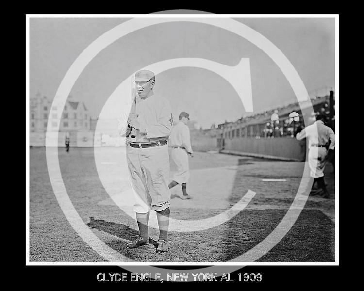 Clyde Engle, New York Highlanders AL, 1909.