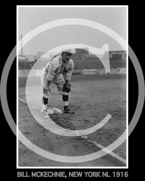 Bill McKechnie, New York Giants NL, 1916.