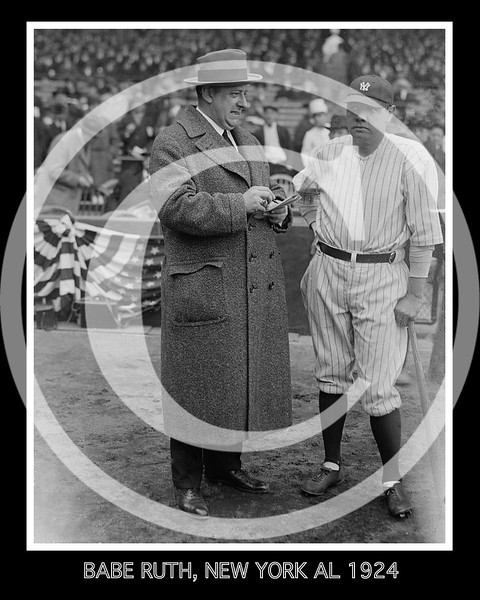 Babe Ruth, New York AL & H H  Van Loan, a screen playwright 1924
