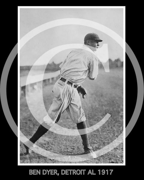 Ben Dyer, Detroit Tigers AL, 1917.
