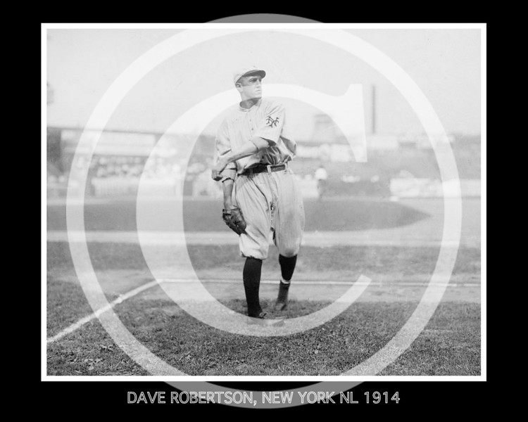 Dave Robertson, New York Giants NL, 1914.