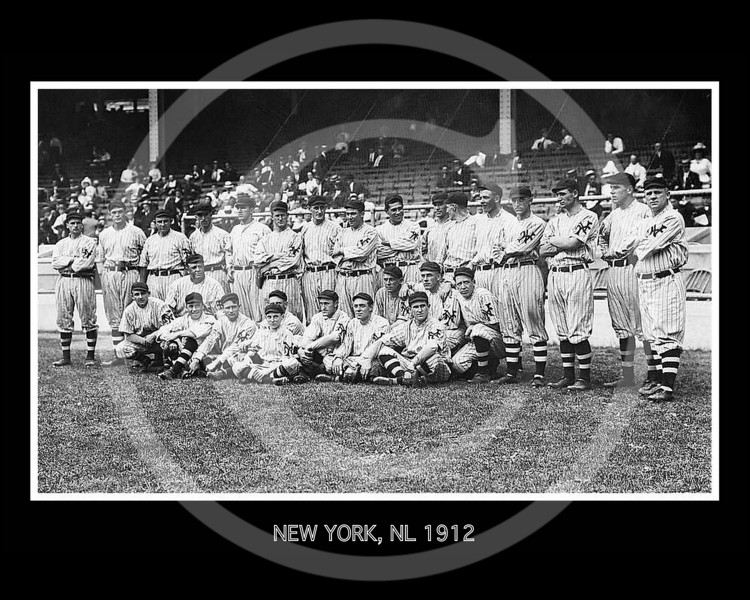 New York Giants NL, at the Polo Grounds, New York, September  1912.