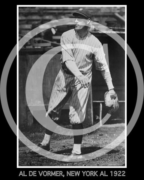 Al DeVormer, New York Yankees AL, 1922.