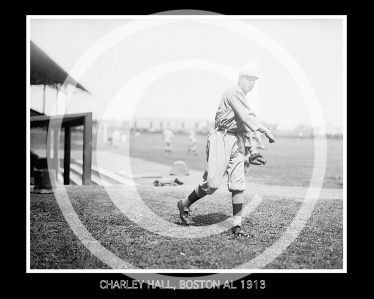 Charley Hall, Boston Red Sox AL, 1913.