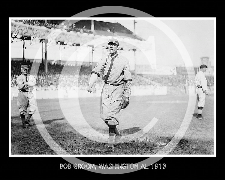Bob Groom, Washington Senators AL, at Polo Grounds NY, 1913.