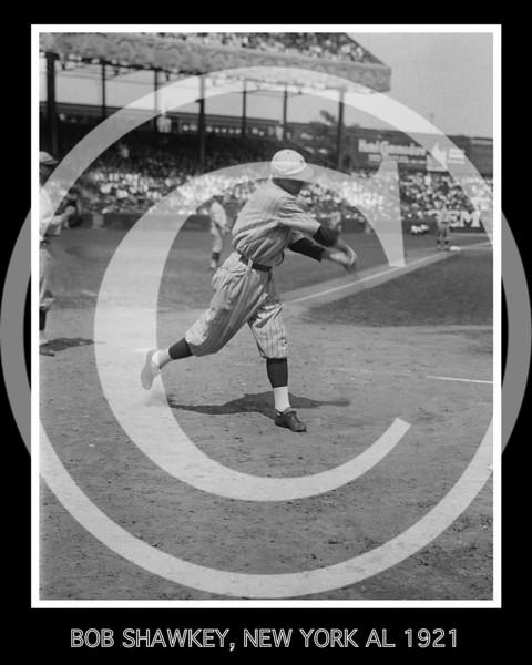 "James Robert ""Bob"" Shawkey, New York Yankees AL, 1921."