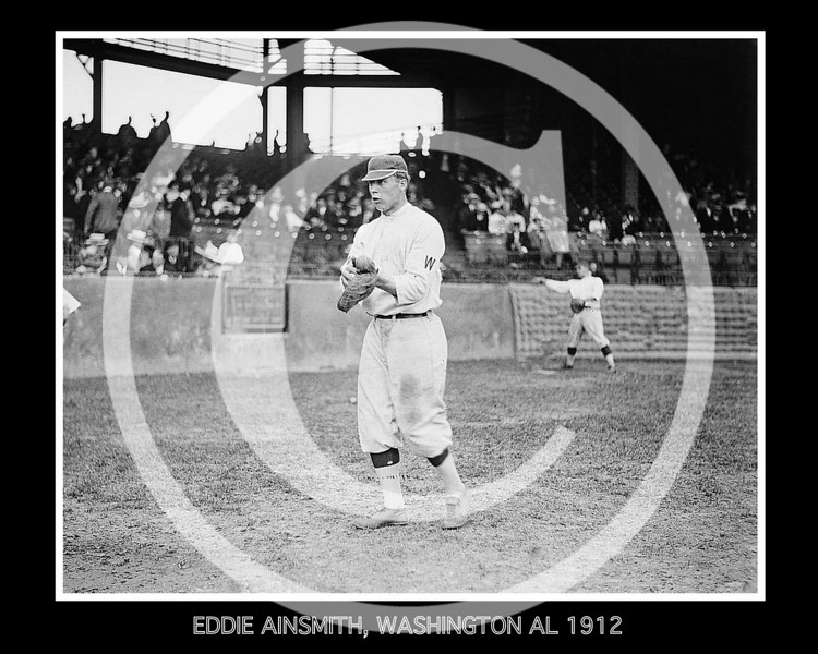 Eddie Ainsmith, Washington Senators AL ,1912.