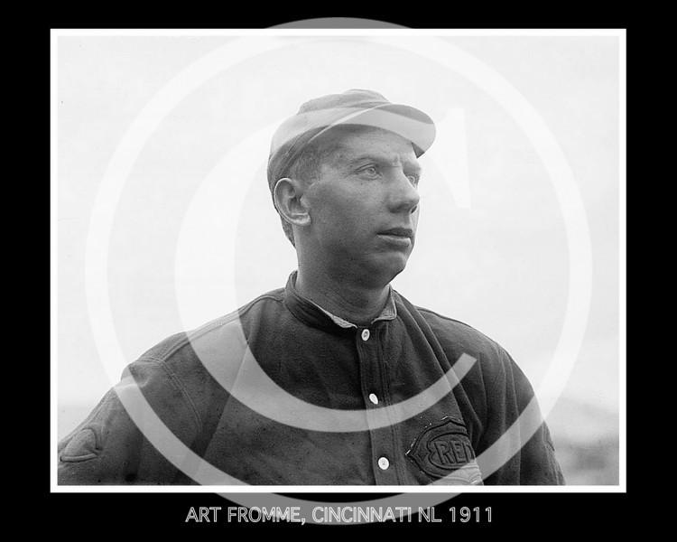 Art Fromme, Cincinnati Reds NL, 1911.