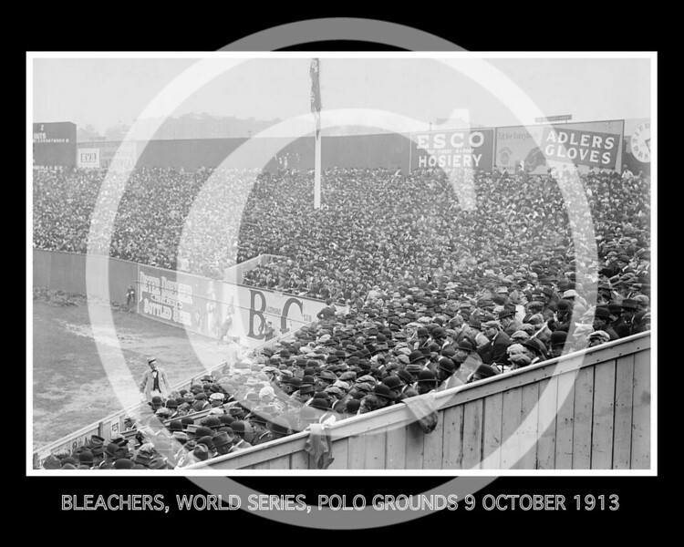 BLEACHERS, WORLD SERIES, POLO GROUNDS 9 OCTOBER 1913