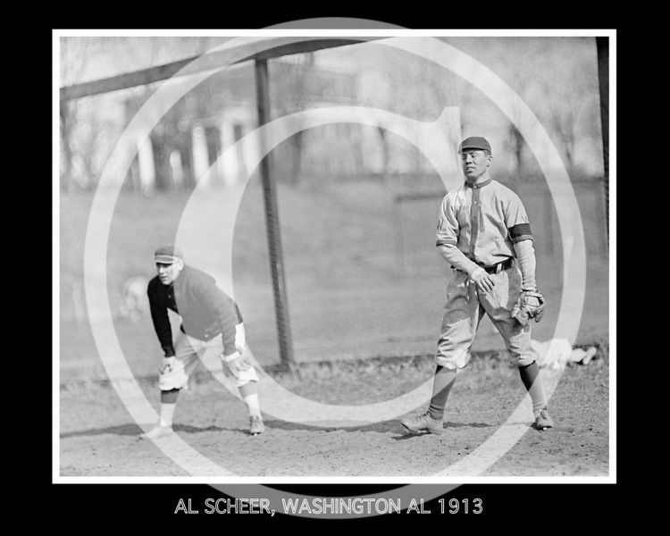 Al Scheer, Washington Senators AL 1913.
