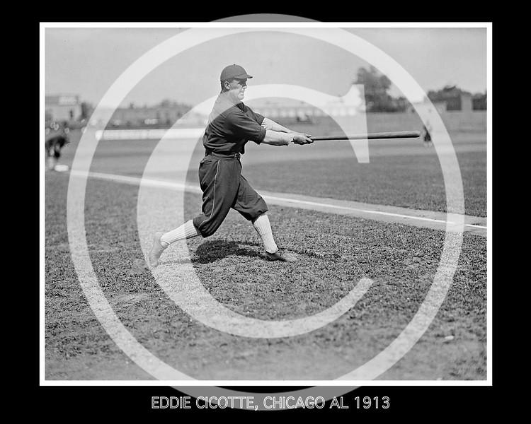 Eddie Cicotte, Chicago White Sox AL, 1913.