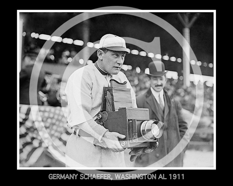 "William Herman ""Germany"" Schaefer,  Washington Senators AL, 1911."