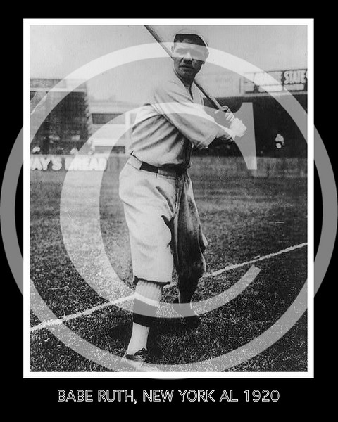 Babe Ruth, New York Yankees AL, 1920.
