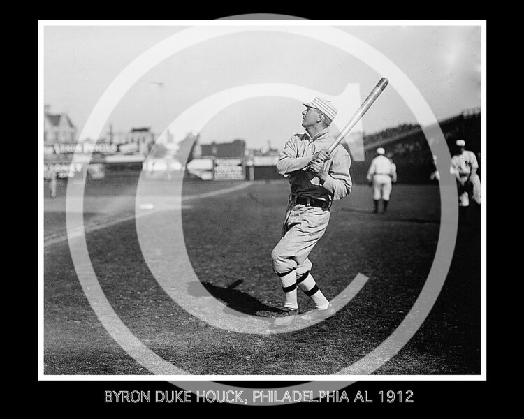 "Byron Simon ""Duke"" Houck, Philadelphia Athletics AL,  1912."