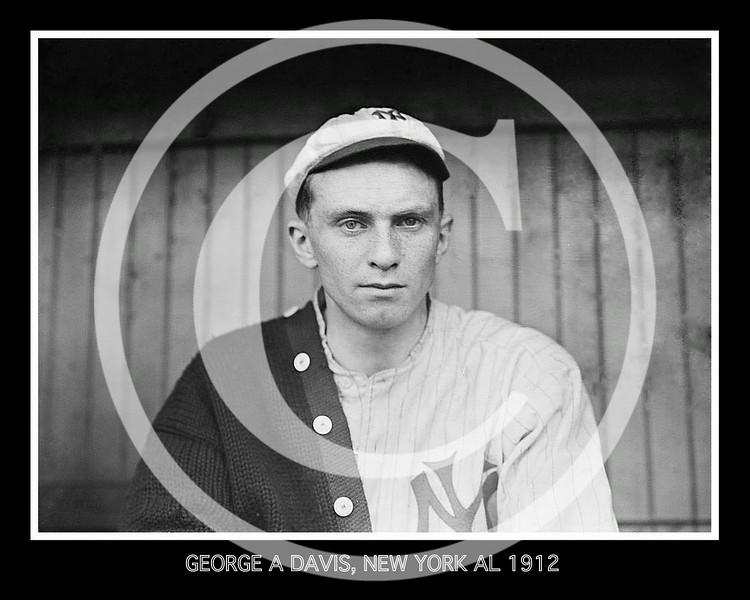 George A. Davis, New York Highlanders  AL, 1912.