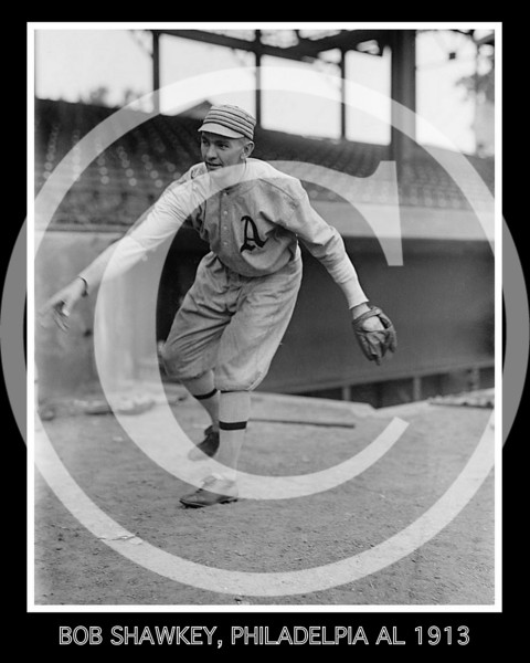 "James Robert ""Bob"" Shawkey, Philadelphia Athletics AL,  1913."