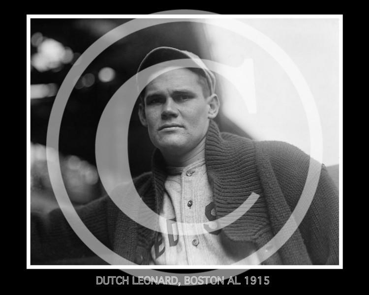 Dutch Leonard, Boston Red Sox AL ,1915.