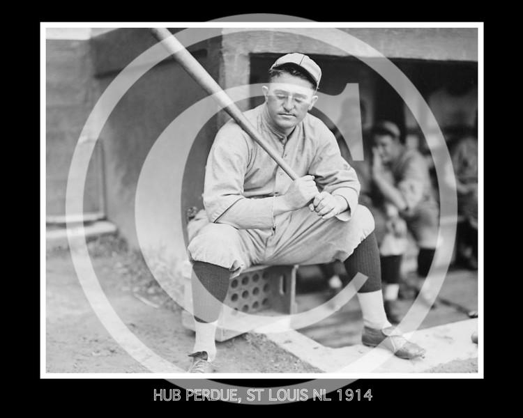 Herbert Hub Perdue, St. Louis Cardinals NL, 1914.