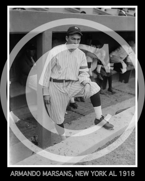 Armando Marsans, New York Yankees AL, 1918.