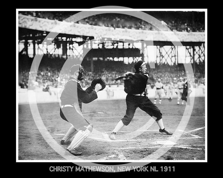 Christy Mathewson, New York Giants NL,  World Series batting practice 1911.