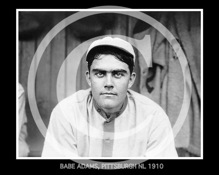 Babe Adams, Pittsburgh Pirates NL, 1910.