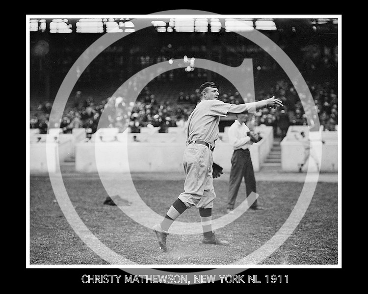 Christy Mathewson, New York Giants NL, 1911.