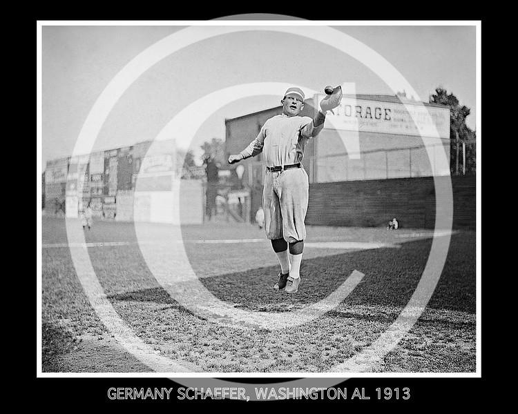 "William Herman ""Germany"" Schaefer, Washington Senators AL, 1913."