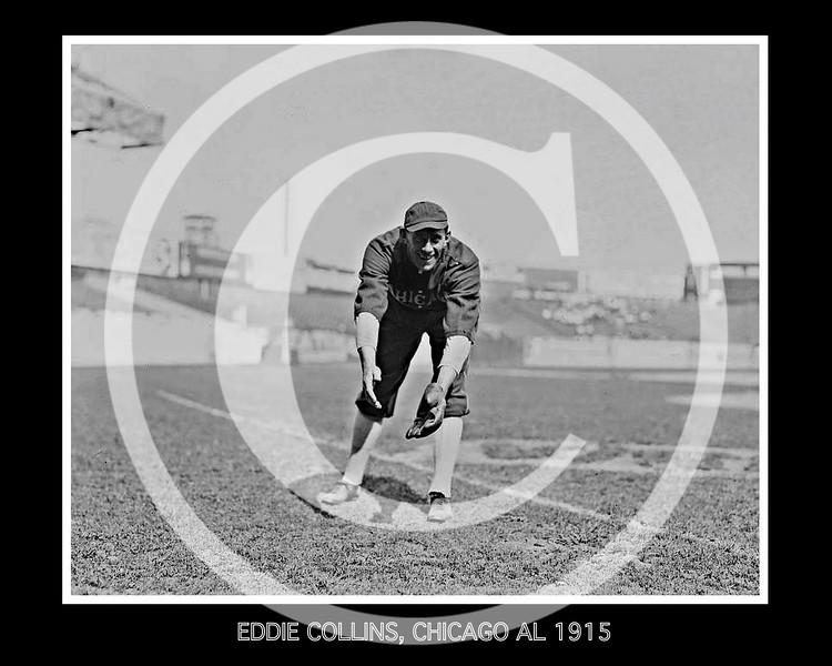 Eddie Collins, Chicago White Sox AL, 1915.
