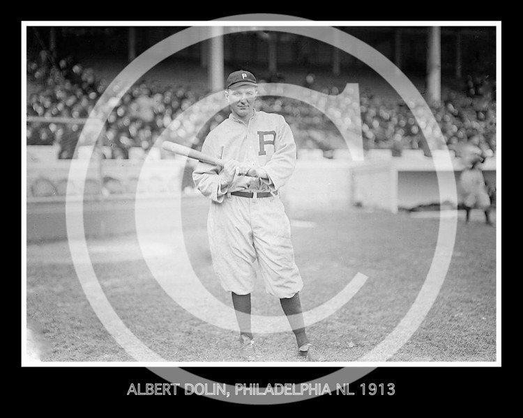 Albert Cozy Dolan, Philadelphia Phillies NL, at Polo Grounds, NY 1913.