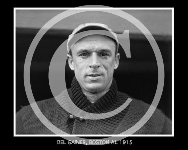 Del Gainer, Boston Red Sox AL, 1915.