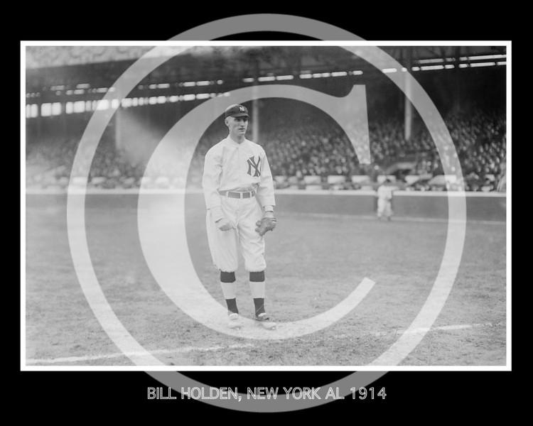 Bill Holden, New York Yankees AL, 1914.
