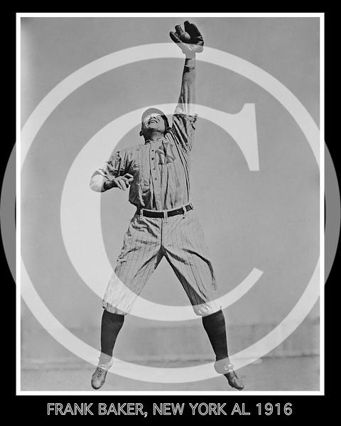 Frank Home Run Baker,  New York  Yankees AL, 1916.