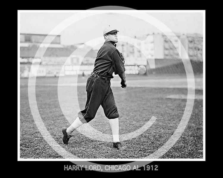 Harry Lord, Chicago White Sox AL, at Hilltop Park NY, 1912.