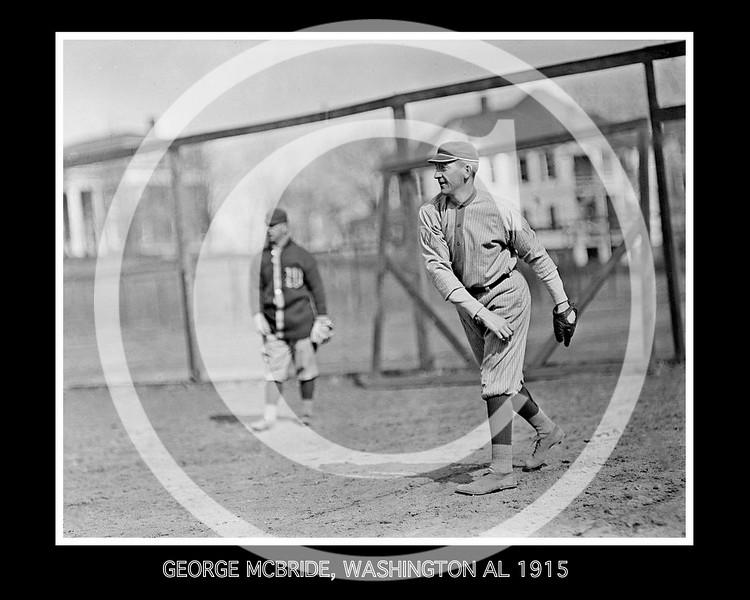 George McBride, Washington Senators AL,  1913.