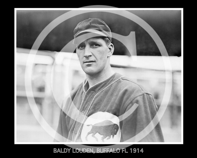 "William P. ""Baldy"" Louden, Buffalo Buffeds, Federal League, 1914."
