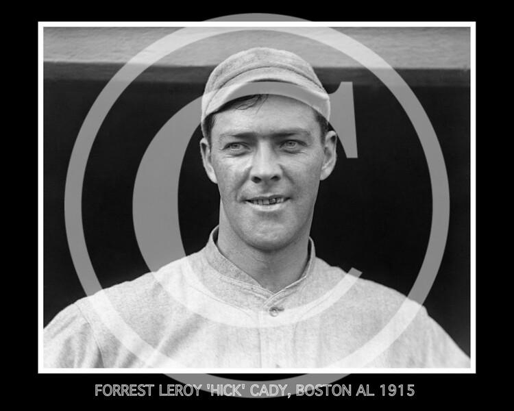 "Forrest Leroy ""Hick"" Cady, Boston Red Sox AL, 1915."
