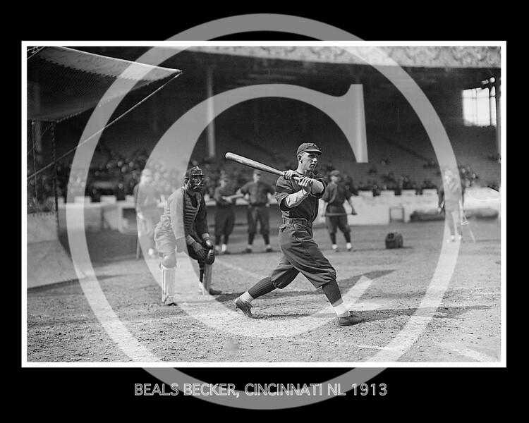 Beals Becker, Cincinnati Reds NL, 1913.