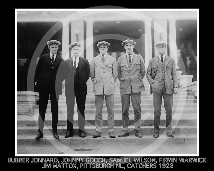 Samuel Mike Wilson - Bubber Jonnard, Johnny Gooch, Samuel Mike Wilson, Firmin Bill Warwick, Jim Mattox, Pittsburgh Pirates NL, 1922.