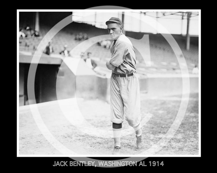 Jack Bentley, Washington Senators AL,  1914.