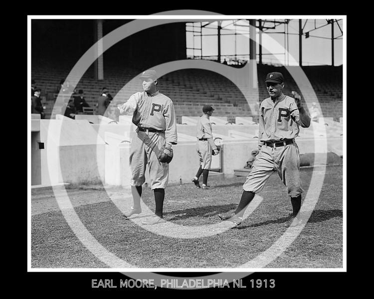 Earl Moore, Philadelphia Phillies NL, 1913.