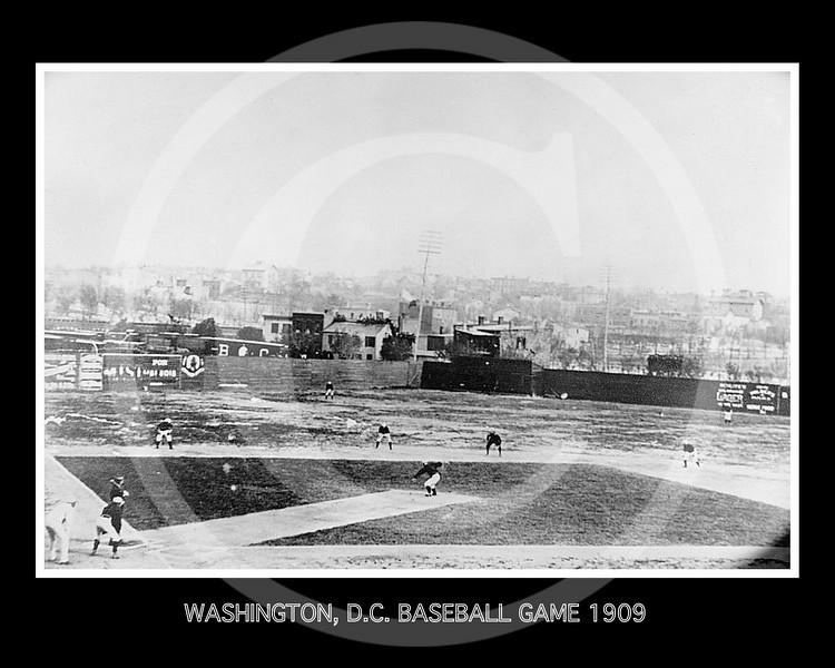 Baseball game early view, Washington, D.C 1909.