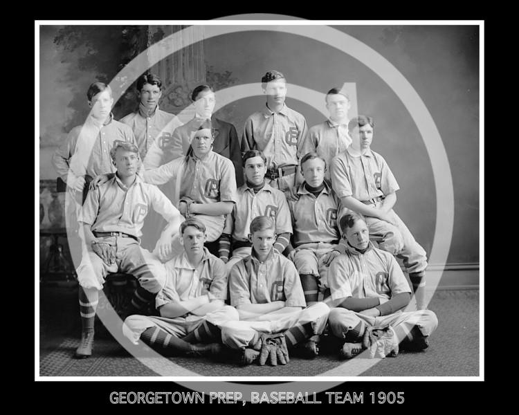 Georgetown Preparatory School, Baseball Team, 1905.