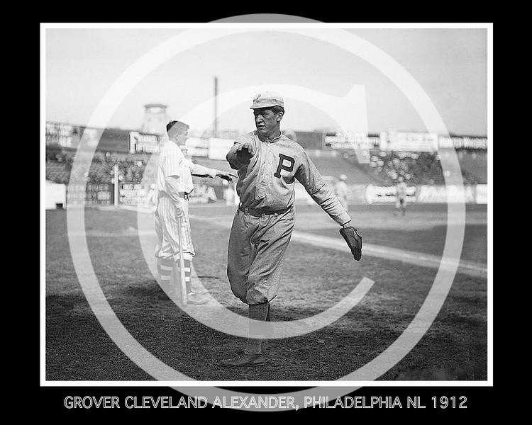 Grover Cleveland Alexander, Philadelphia Phillies NL, 1912.