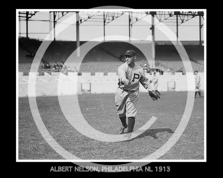Albert Red Nelson, Philadelphia Phillies NL, 1913.